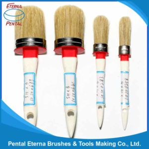 131b Round Brush with Wooden Handle and White Bristle pictures & photos
