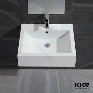 Bathroom Sink Square White Wash Basin pictures & photos