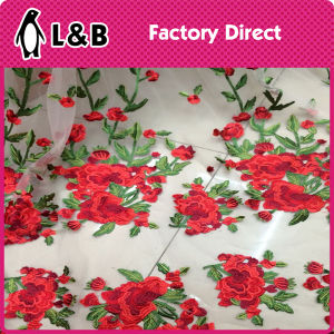 130cm Embroidered Birds Lace Fabric pictures & photos