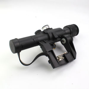 Latest Military Standard Riflescope with Svd 4X24 Red Illuminated Reticle Rifle Scope pictures & photos