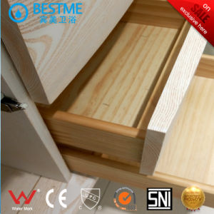 Modern Ceramic Sink Solid Wooden Bathroom Cabinet (BY-X7101) pictures & photos
