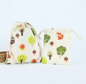 2016 Cotton Fabric Drawstring Gift Packaging Bags (CCB-1089) pictures & photos