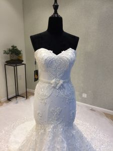 Sweetheart Beading Lace Mermaid Evening Prom Party Wedding Bridal Gown pictures & photos