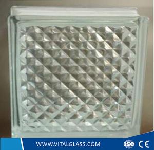 Transparent Lattice Pattern Glass Block for Decoration (GB Grade) pictures & photos