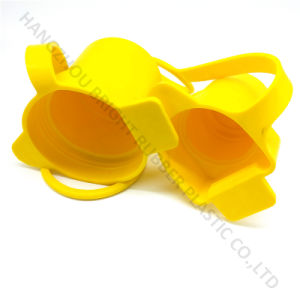 Silicone Rubber Yellow Cap Protector with Rope Customized in High Quality pictures & photos