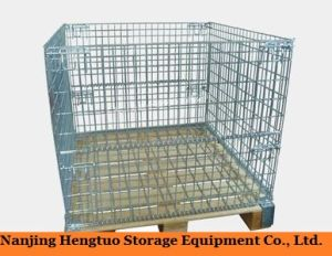 Steel Wire Mesh Pallet Container for Warehouse Storage pictures & photos