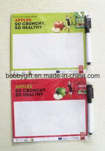 Paper Fridge Magnet Writeboard with Erasable Felt Pen pictures & photos