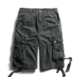 Men′s Cotton Loose Fit Pocket Cargo Shorts pictures & photos