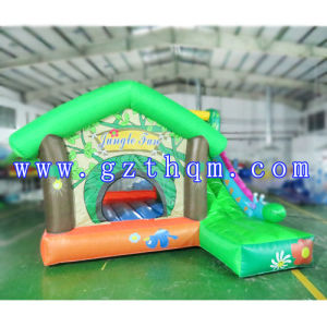 Inflatable Jump Bed for Children/Castle Jump Bed Small Slide pictures & photos