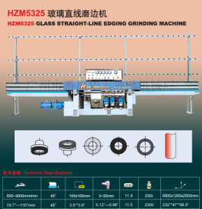 Automatic PLC Glass Straight Line Edging Machine (HZM5325) K24 pictures & photos