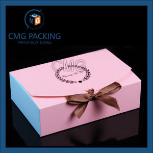 Logo Printed Pink Color Sweet Cake Box (CMG-cake box-024) pictures & photos