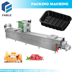 Cheese Automatic Continuous Vacuum Thermoforming Packing Machine pictures & photos