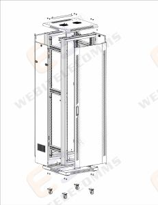 "19"" Floor Standing Cabinet with Glass Door-- Easy Type Design pictures & photos"