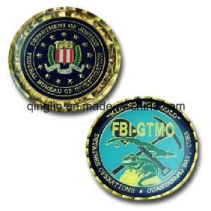 Custom Crystal Epoxy Souvenir Coin (QL-SMB-0001) pictures & photos