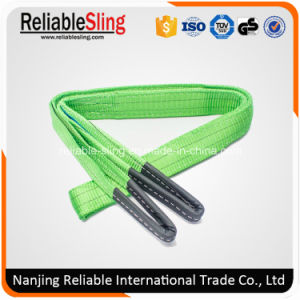 En1492-1 Ce ISO Double Ply Polyester Belt Type Lifting Strap with Reinforced Eyes pictures & photos