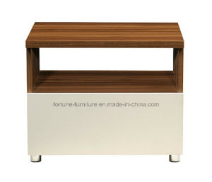 Modern Wooden Walnut & White Nightstand (B1052)