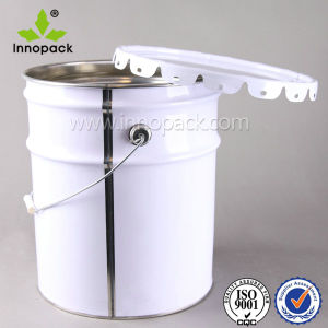 White 5 Gallon Metal Bucket with Lid for Paint and Chemical pictures & photos