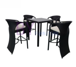 Modern Cheap Nice Rattan Bar Tables and Chair Furniture Set pictures & photos
