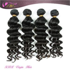 Natural Raw Human Hair Wavy 100% Peruvian Virgin Hair Extension pictures & photos