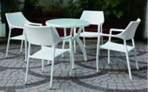 Outdoor Garden Rattan Wicker Dining Table and Chair
