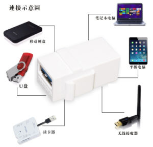 Superspeed USB 3.0 Type-a Female to Female Adapter Bridge Extension Connector