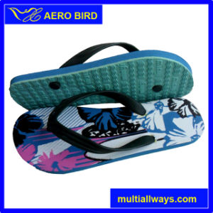 Colorful Print PE Footwear Fashion Slipper for Men pictures & photos