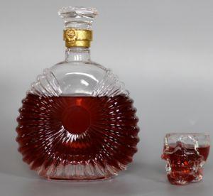 Unique Shaped Clear Glass Wine Bottle pictures & photos