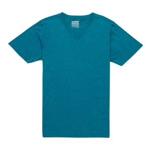 High Quality Plain Heather Green Men V Neck T-Shirt (TS005W) pictures & photos