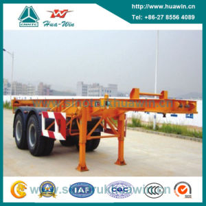 Sinotruk Huawin 2-Axle Skeletal Container Semi Trailer pictures & photos