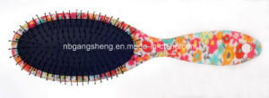 New Color Flower Design Rubber Effect Hair Brush for Hair Salon pictures & photos