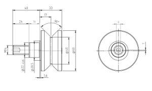 Hpve40, V-Grooved Eccentric Stud, Osborn Design Bearing, Load Runner, Idler-Rollers