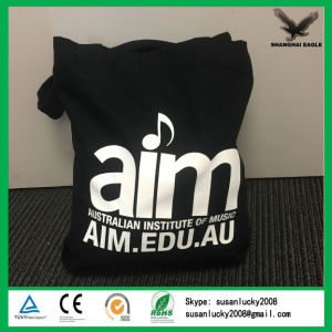 High Quality Black Cotton Canvas Bag with Logo Printing pictures & photos