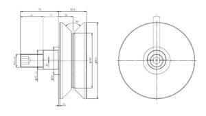 Hpve100, V-Grooved Eccentric Stud, Osborn Design Bearing, Load Runner, Idler-Rollers