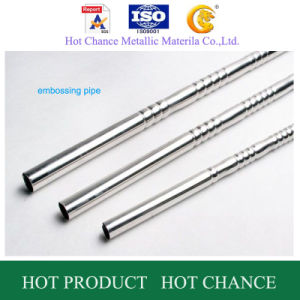 SUS 304 Stainless Steel Embossy Pipes pictures & photos