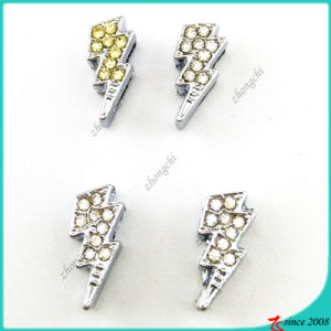 Rhinestone Lightning Slide Charms for DIY Bracelet (SC16041905)