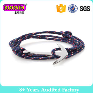 Silver Plated Anchor Layer Wrap Rope Anchor Bracelet #B103 pictures & photos