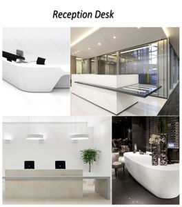Half Round Reception Desk with 70mm Partition / Curved Reception Desk pictures & photos