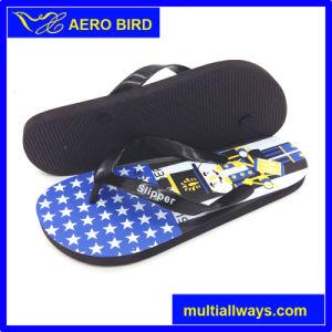 Flag Print Design Flip Flops Men Slipper Sandal Shoes pictures & photos