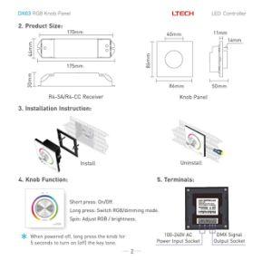 Ltech New DMX Knob Panel LED RGB Controller Dx63 pictures & photos