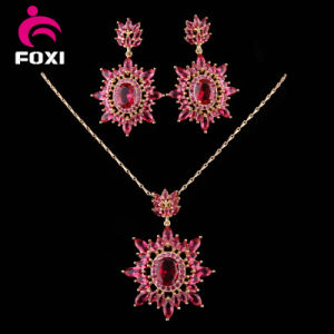 China CZ Cubic Zirconia Costum New Ruby Jewellery Sets pictures & photos