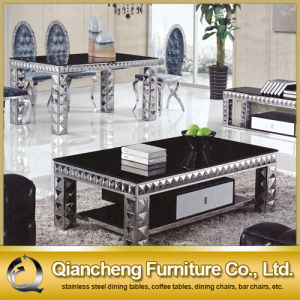 Luxury Design Black Glass Coffee Table pictures & photos
