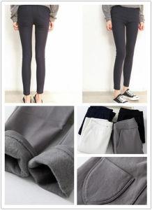 2015 Autumn Winter Fleece High Elasticed Woven Legging Pencil Pants for Wholesale pictures & photos