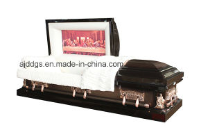 Brown and Copper Brushed Casket pictures & photos