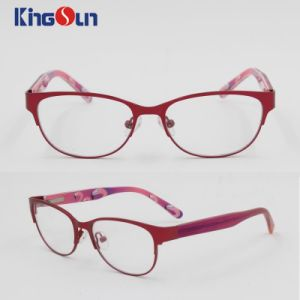Kid′s Steel Frame with Injection Temple Optical pictures & photos