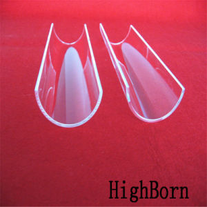 Factory Price Clear Arc Quartz Glass Plate pictures & photos