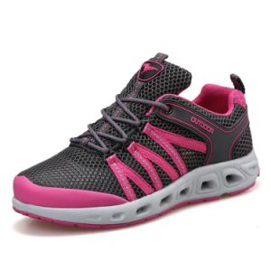 Sports Trekking Outdoor Footwear Hiking Boots for Women (AK8923) pictures & photos