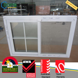 White Color UPVC Profile Insulating Sliding Window with Glass pictures & photos