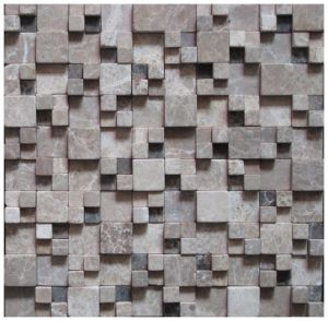 Polished Nature Stone Mosaic for The Television Background Wall (Fyssc180) pictures & photos