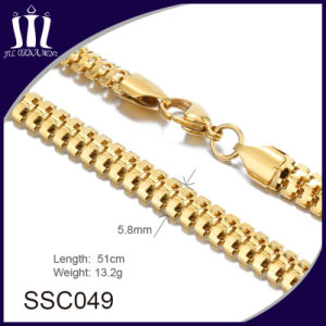 New Designed Gold Stainless Steel Chain Jewelry Necklace pictures & photos