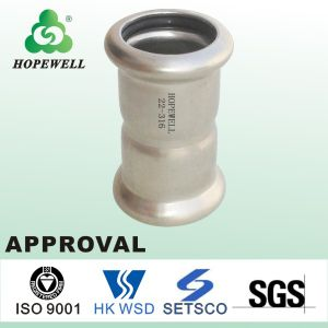 Inox Approval Sanitary Plumbing Stainless Steel 304 316 Press Fitting